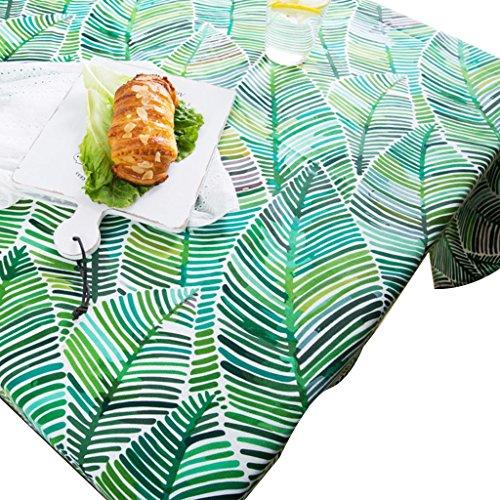 Nappe à motif feuille verte Linge de table en coton et lin naturel Nappe de thé Couverture de tissu carré minimal (Size : 140 * 200cm)