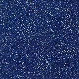 bastelkoerble® Moosgummiplatte Glitter Glitzer 2 Platten 200 x 300 x 2mm in blau.