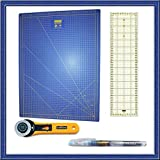 Kit de Patchwork de alta calidad con Base de corte Azul de 60x45