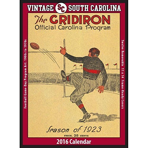Vintage South Carolina Gamecocks Football Poster Calen by Asgard Press by Asgard Press
