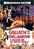 GOLIATH AND THE SINS OF BABYLON (Maciste, der Stärkste unter der Sonne) & COLOSSUS AND THE AMAZON QUEEN (Ursus im Reich der Amazonen) - DVD - englisch (keine deutsche Sprache)