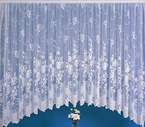 "Lara White Net Curtain Jardiniere D45 – 635cm x 114cm (250"" x 45"")"
