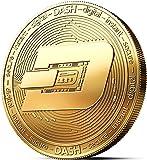 innoGadgets Physische Dash Medaille mit 24-Karat Echt-Gold überzogen. Wahres Sammlerstück mit Münzkapsel - Kollektion 2018. EIN Muss für jeden Krypto-Fan