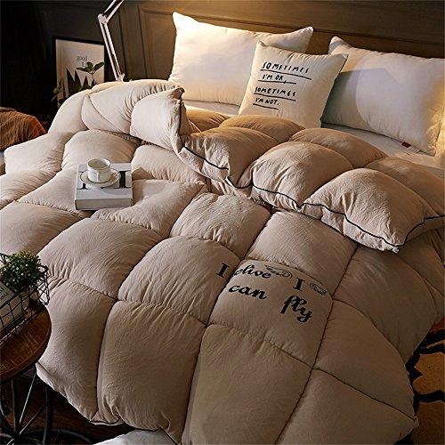 Frühling und Herbst Bettwäsche Winter Verdickung Wärme Single / Double Cotton Keep Warm Quilt / Tröster ( Farbe : Khaki , größe : 180*200cm 3kg )