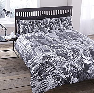 Luxury New York City Skyline Manhattan Scenery View Photographic Duvet Set Quilt Cover Bedding