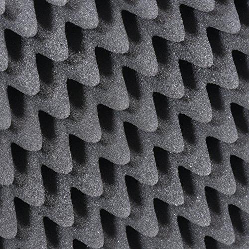 AluPlus Foam 44/2 Schaumstoff-Set, 2-teilig,Noppen- und Würfelschaum - 3