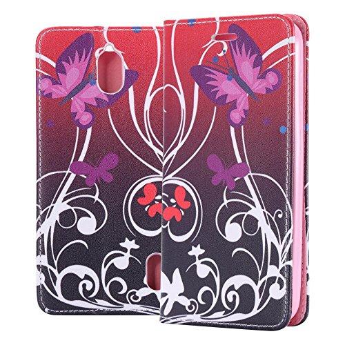 ECENCE Handyhülle Schutzhülle Case Cover kompatibel für Huawei Y635 Handytasche Schmetterling 13040105