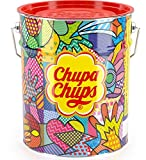 Chupa Chups Best of Lollipops Metal Canister – 150 150 Pack of 12 Rolls)