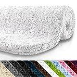 casa pura Tapis de bain grande taille Qualité Premium Oeko Tex | epais, moelleux, absorbant | lavable en machine | plusieurs tailles et couleurs | blanc - 60x100cm