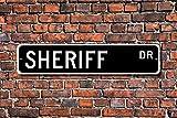 Aersing Home Decor Sign sceriffo Gift segno legge di legge ufficiale di governo dipendente in metallo per uso da interni ed esterni Street