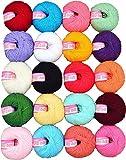 #10: Vardhman Cotton Wool Ball(Multicolour) - 20 Pieces