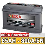 BSA Autobatterie 85Ah 12V 800A/EN ersetzt 70Ah 72Ah 74Ah 75Ah 77Ah 80Ah