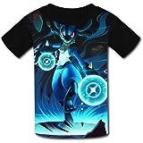 Camisetas para niños para jóvenes de Manga Corta Me-Ga Lu-Cario Boys Girls T Shirt Graphic Short Sleeve Crew Top Blouse