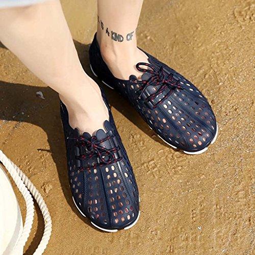 ZXCV Scarpe all'aperto Scarpe da bucato degli uomini, scarpe da spiaggia traspiranti esterne Blu