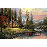 "Schmidt Spiele 58455 - Thomas Kinkade ""Casa tra le montagne"", Puzzle da 500 pezzi"