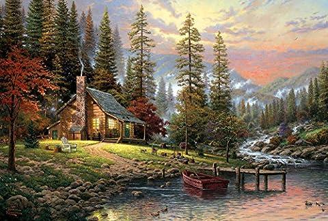 Schmidt Spiele 58455 - Thomas Kinkade, Haus in den Bergen, 500 Teile