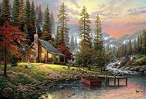 Schmidt - 58455 - Puzzle Classique - Maison en Pleine Montagne