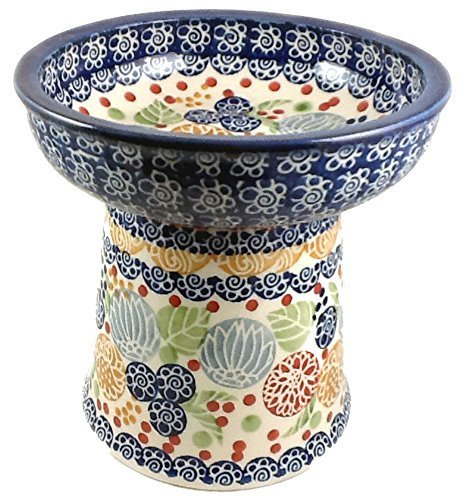polnische-keramik-klein-katze-hund-erhhte-trockenfutter-oder-wassernapf-signature-koku-rennie