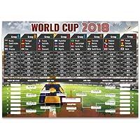 Partyrama A2 2018 World Cup Wall Chart - PVC - 59cm x 42cm