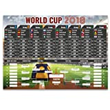 Partyrama A2 2018 World Cup Wall Chart - PVC - 59cm x 42cm