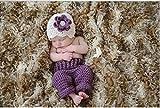 Jastore ® Foto Fotografie Prop Baby Kostüm schön lila Stricken Handarbeit