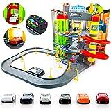 Parkhaus Garage Parkgarage KP9819 NEU Auto Autogarage XXL Spielzeugauto - Geschenk 3 Ebenen + Spielstraße