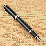 HeroNeo® Jinhao X750 Deluxe Black 18kgp Fountain Pen Medium Nib [Office Product]
