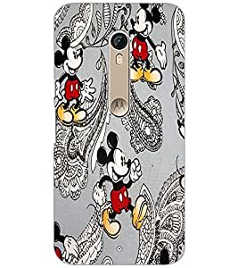 Printdhaba Mickey Mouse D-1449 Back Case Cover For Motorola Moto X Pure Edition