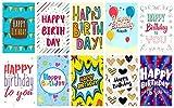 """Greetingles Geburtstagskarten mit Umschlägen, 20Stück, mit großem Buchstaben-Design, mit der Aufschrift """"Happy Birthday"""", 10 verschiedene Designs Hergestellt in Großbritannien."""