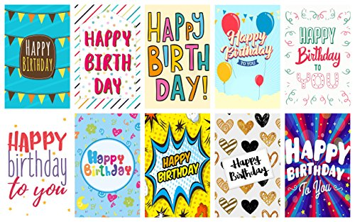 20 Large Letter Design Birthday Cards