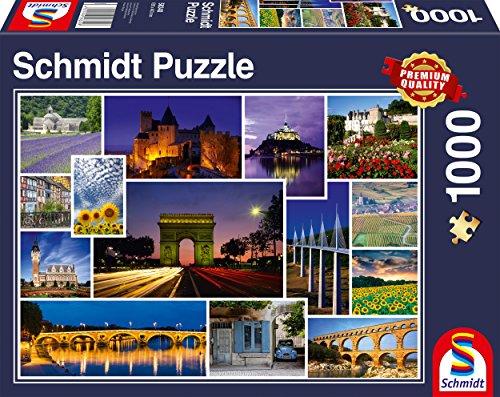 Schmidt Spiele Puzzle 58340 Mach Mal Urlaub in Frankreich, 1000 Teile (In Frankreich)