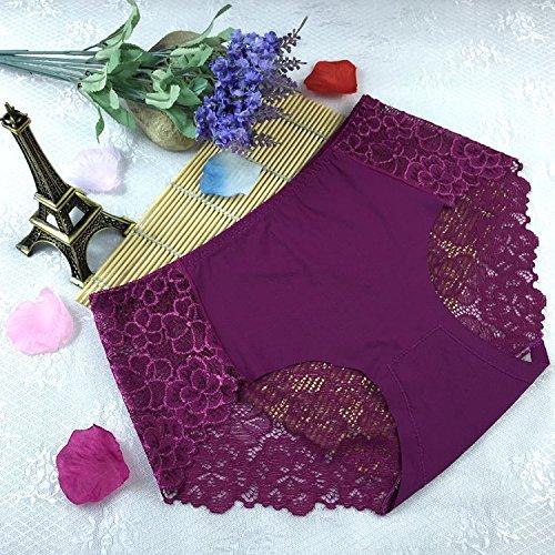 QPLA@T-back Unterhosen Schlüpfer Niedrige taille Slip Damen Unterwäsche Tangas purple onesize-A
