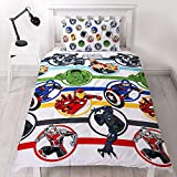 Marvel DMASRODS001UK1 Copripiumino, White, 200 x 130cm