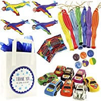 The Curious Caterpillar Boys Party Bags - Ready To Fill Paper Party Bag with Party Bag Fillers and Tissue Paper (Max)