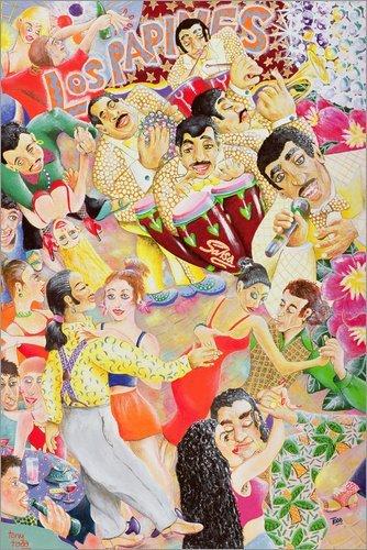 Posterlounge Acrylglasbild 100 x 150 cm: Salsa Nacht von Tony Todd/Bridgeman Images - Wandbild, Acryl Glasbild, Druck auf Acryl Glas Bild