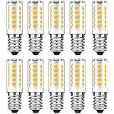 E14 led warmweiss 5w 500 lumens 2700k ersetzt 50W Glühlampen E14 LED Lampe Nicht Dimmbar AC 220V-240V 10er Pack