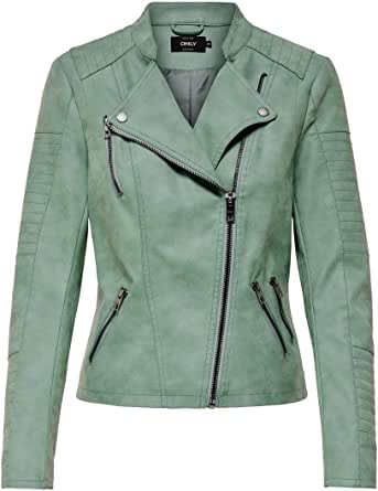 Only Onlava Faux Leather Biker Otw Noos Giacca Donna
