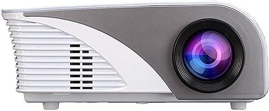 Projector, Xinda LCD 1200 Lumens Mini Multi-media Portable Video Projector Game Home Cinema Theater Movie Projector White 001BW