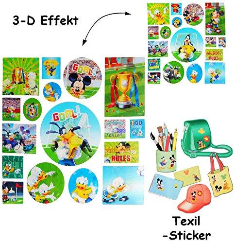 Disney Mickey Mouse Scrapbooking (alles-meine.de GmbH 17 TLG. Set _ 3-D Effekt _ Aufkleber / Sticker -  Disney Mickey Mouse  - für Textilien / Stoff / Metall - selbstklebend - Textilsticker / extrem haftend - f..)