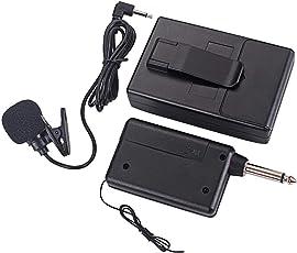 FXCO Wireless FM Sender Empfänger Clip Mikrofon Mic System KM208 für Sprechen