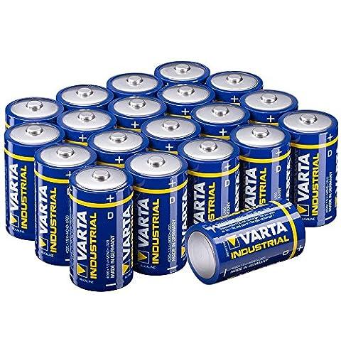 Varta Batterien 4020 LR20 Mono D (Made in Germany, für energieintensive Geräte z.B. elektronisches Spielzeug, Vorratspack 20