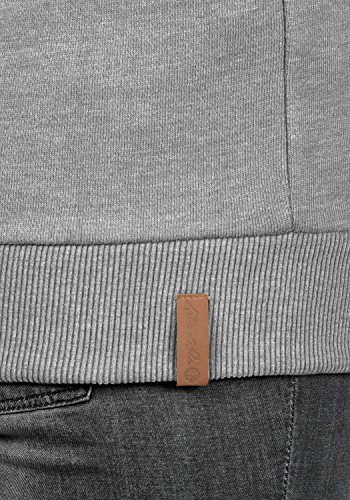 BLEND SHE Julia Damen Kapuzenpullover Hoodie Sweatshirt mit Kangurutasche aus hochwertiger Baumwollmischung Stone Mix (70813)