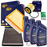 Filter Set Inspektionspaket 3x 1L ARAL Supertronic 5W30 1x Filter, Innenraumluft 1x Oelfilter1x Luftfilter