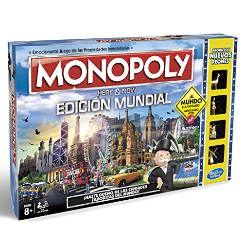 Monopoly, edición Mundial, Multicolor Hasbro