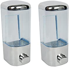 SBD Soap Dispenser, Shower Lotion, Gel, Conditioner, Liquid Shampoo Pump, Mirror Finish,Combo Pack Of 2