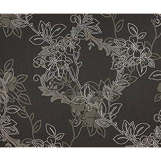 Dutch Wallcoverings 6838-7 Flowers Wallpaper - Black