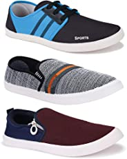 Bersache Men's Combo Pack of 3 Walking Shoes, Gym Shoes, Sports Shoes, Running Shoes, Sneakers Shoes, Loafers Shoes, Trekking