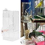 SODIAL Automatische Futterhaeuschen der Haustier Vogelkaefig Fuetterungsanlage Futtercontainer Fuetterung automatische Fuetterungsanlage der Papagei