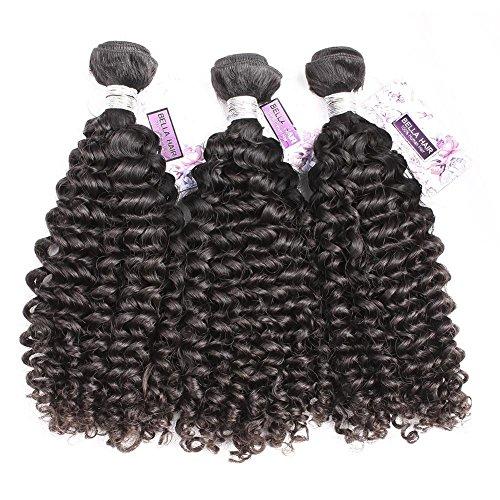 Bella Hair 100 % Cheveux Tissage Humains Vierges Lâches Bouclés Vague 3 Faisceaux Mixte 14\\