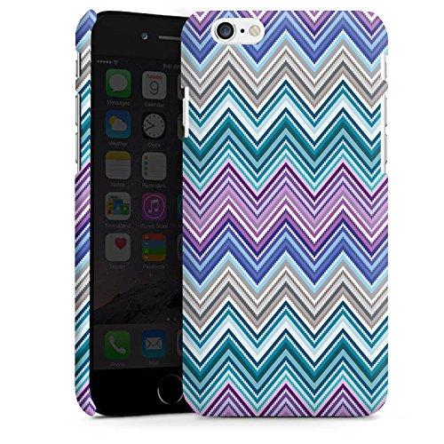 Apple iPhone 5 Housse étui coque protection Zigzag couleurs Motif mode Cas Premium mat
